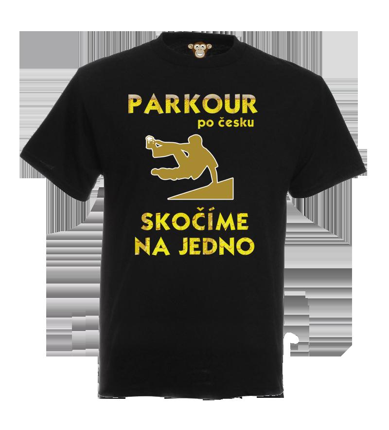 Pánské tričko - Parkour po česku  609b537263